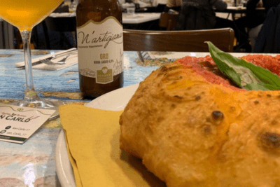 fried pizza class and beer tastings in naples